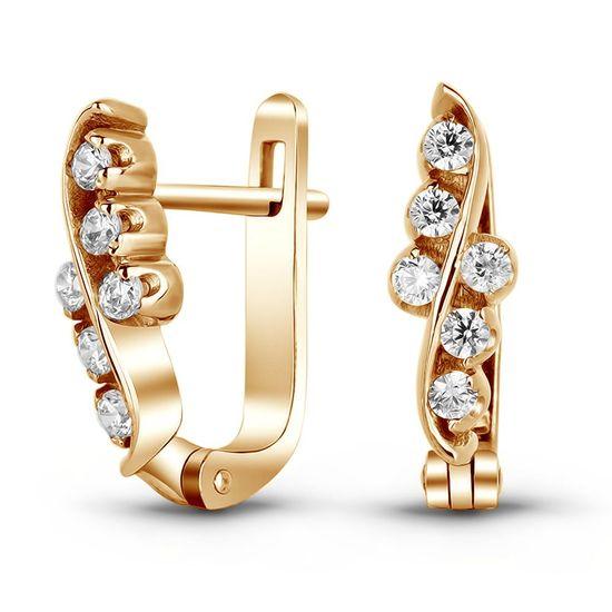 Золотые серьги с фианитами ФСз266 - купить недорого, хорошие цены по ... 70036cdc3dd