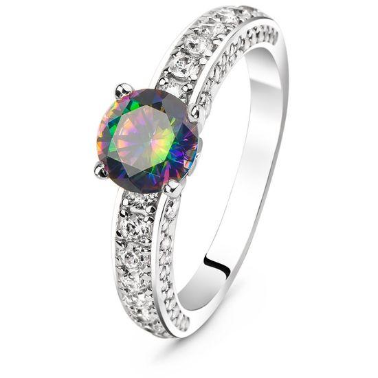 79be0aff6dc1 Серебряное кольцо с фианитом цвета мистик