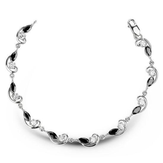 Срібний браслет із чорним фіанітом БР016ЦЧ - купити недорого 7ddb45c04c58c