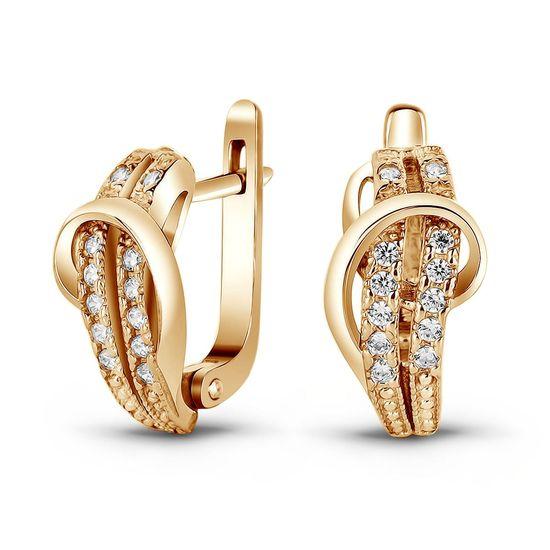 Серьги из золота с фианитом ФСз129 - купить недорого, хорошие цены ... 5d46398ba49