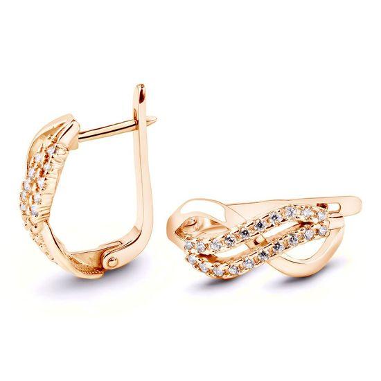 Золотые сережки с фианитом
