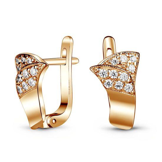 Золотые серьги с фианитом ФСз131 - купить недорого, хорошие цены по ... 1c233493b61