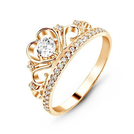 d0b0e6a3a3b Кольцо золотое с фианитом